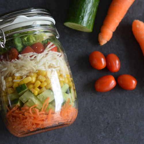Salad in a jar - Salade en bocal